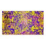 Psicodélico amarillo moderno en fondo púrpura tarjetas de visita