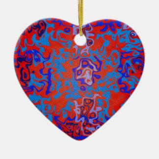 Psicodélico azul moderno en fondo rojo ornamentos para reyes magos