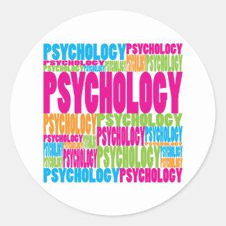 Psicología colorida pegatinas redondas