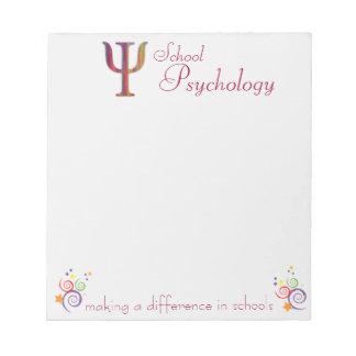 Psicología de la escuela que hace una libreta de l libreta para notas