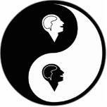 Psicología de Yin Yang Esculturas Fotográficas