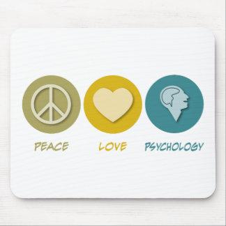 Psicología del amor de la paz alfombrillas de ratones