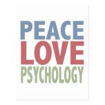Psicología del amor de la paz tarjeta postal