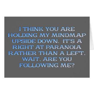 Psicología: el estudio de la gente que es paranoic tarjeta pequeña