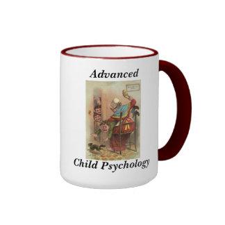Psicología infantil avanzada taza de dos colores