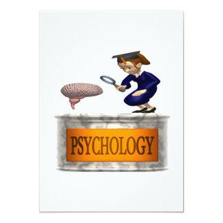 """Psicología Invitación 5"""" X 7"""""""