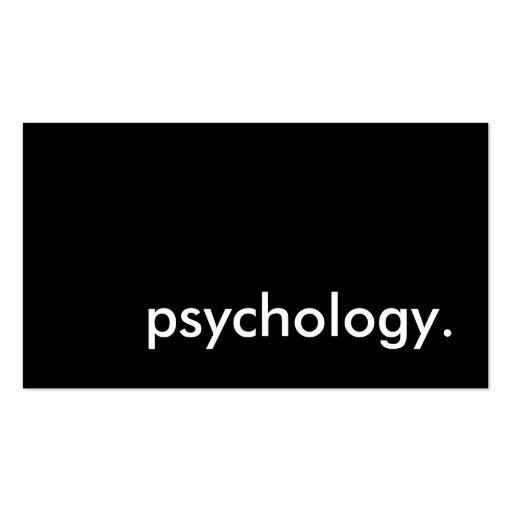 psicología tarjetas de visita
