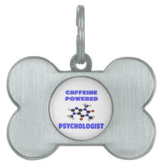 Psicólogo accionado cafeína placas de nombre de mascota