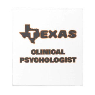Psicólogo clínico de Tejas Blocs De Notas
