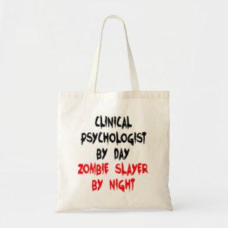 Psicólogo clínico del asesino del zombi bolsa tela barata