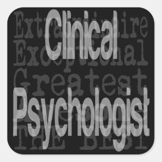 Psicólogo clínico Extraordinaire Pegatina Cuadrada