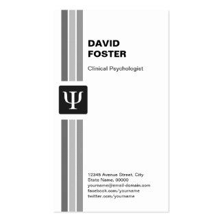 Psicólogo clínico - símbolo de la PSI de la psicol Tarjeta De Visita