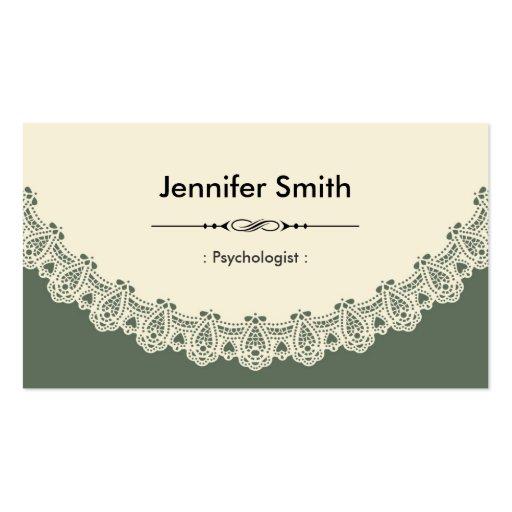 Psicólogo - cordón elegante retro tarjetas de visita