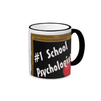Psicólogo de la escuela #1 taza a dos colores