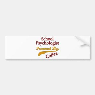 Psicólogo de la escuela accionado por el café pegatina para auto