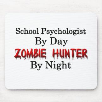 Psicólogo de la escuela/cazador del zombi tapetes de raton