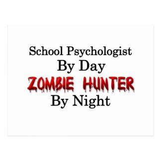 Psicólogo de la escuela/cazador del zombi tarjetas postales