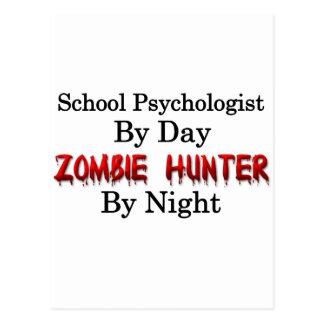 Psicólogo de la escuela/cazador del zombi tarjeta postal