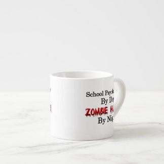 Psicólogo de la escuela/cazador del zombi taza espresso