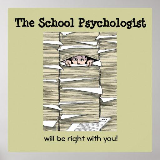 Psicólogo de la escuela enterrado en el papeleo (i poster