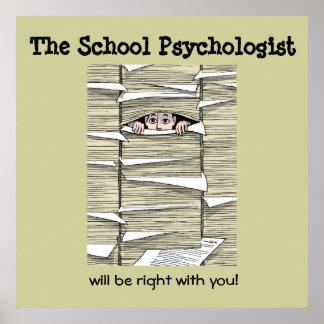 Psicólogo de la escuela enterrado en el papeleo (i póster
