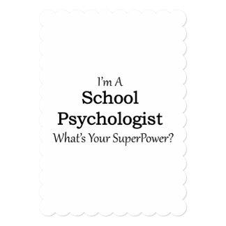 """Psicólogo de la escuela invitación 5"""" x 7"""""""