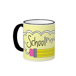 Psicólogo de la escuela Ir-a la taza de la