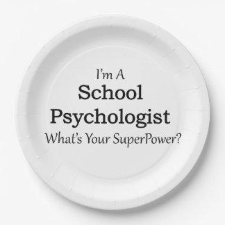 Psicólogo de la escuela plato de papel de 9 pulgadas