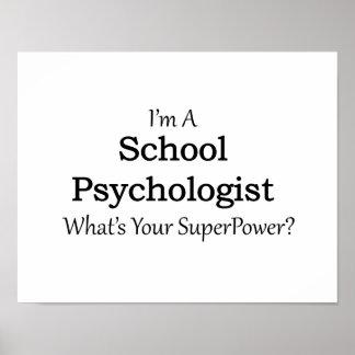 Psicólogo de la escuela póster