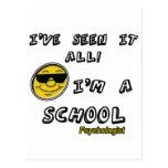 Psicólogo de la escuela tarjetas postales
