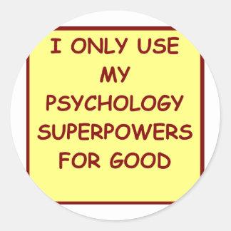 psicólogo del paychology pegatina redonda