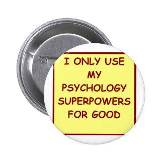 psicólogo del paychology pin redondo de 2 pulgadas