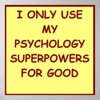 psicólogo del paychology póster