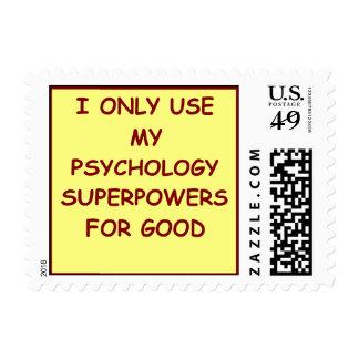 psicólogo del paychology timbres postales