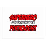 Psicólogo del super héroe… postal