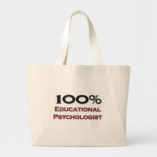 Psicólogo educativo del 100 por ciento bolsa de tela grande