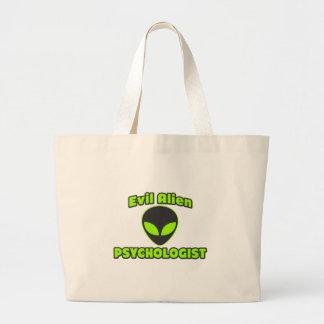 Psicólogo extranjero malvado bolsa de mano