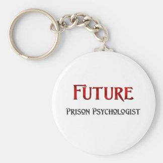 Psicólogo futuro de la prisión llavero redondo tipo pin