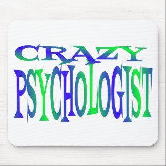 Psicólogo loco alfombrilla de ratones