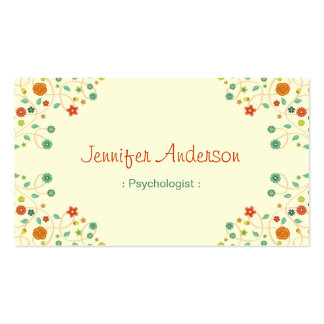 Psicólogo - naturaleza elegante elegante plantilla de tarjeta personal