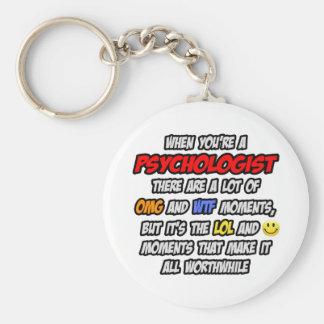 Psicólogo. OMG WTF LOL Llavero Redondo Tipo Pin
