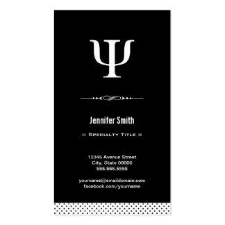Psicólogo profesional - símbolo de la PSI de la Tarjetas De Visita