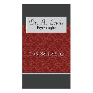 Psicólogo y tarjeta de visita médica - monograma