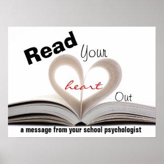 Psicólogos de la escuela que promueven la impresió póster