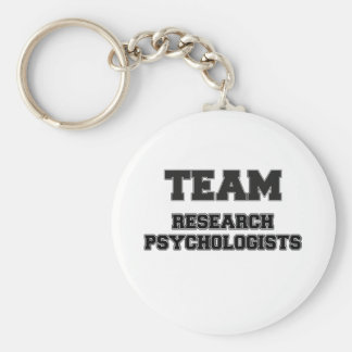 Psicólogos de la investigación del equipo llaveros personalizados