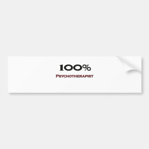 Psicoterapeuta del 100 por ciento etiqueta de parachoque