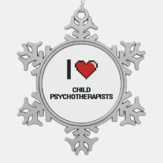 Psicoterapeutas del hijo natural I Adorno De Peltre En Forma De Copo De Nieve