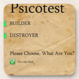Psicotest Builder destroyer nice Question Coasters