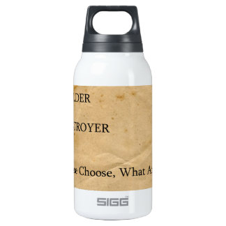 Psicotest Builder destroyer nice Question Insulated Water Bottle