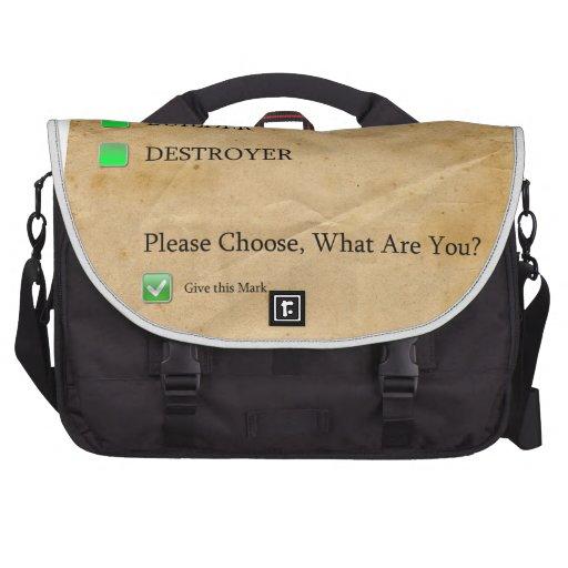 Psicotest Builder destroyer nice Question Commuter Bags